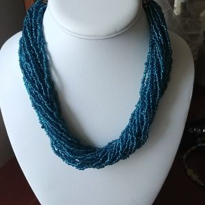 Pretty Irredescent Beaded Necklace